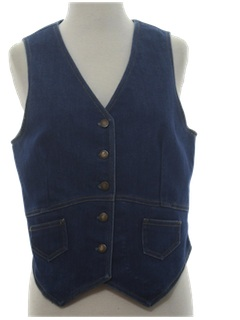 1980's Womens Denim Vest