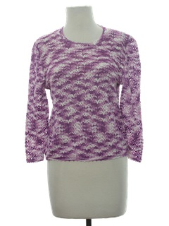 1980's Womens Totally 80s Crocheted Shirt