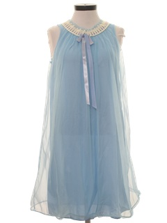 1960's Womens Mod Lingerie Mini Nightgown