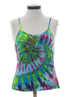 1980's Womens Tie Dyed Hippie T-Shirt