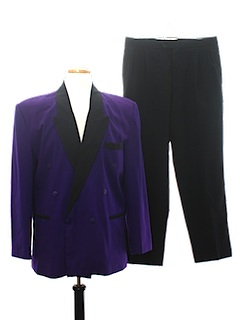1990's Mens Wicked 90s Tuxedo Suit