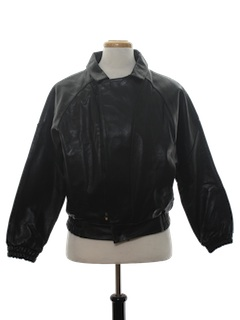1980's Mens Totally 80s Leather Motorcycle Jacket