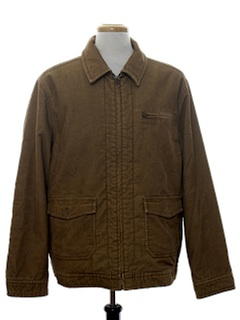 1990's Mens Corduroy Zip Work Jacket