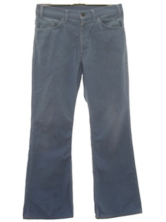 1970's Mens Corduroy Flared Jeans-Cut Pants