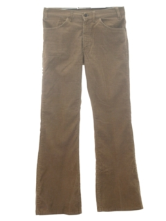 1970's Mens Corduroy Jeans-Cut Bellbottom Pants