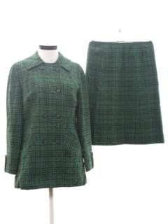 1960's Womens Mod Wool Pendleton Skirt Suit