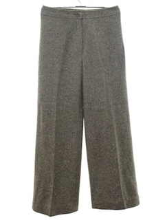 1970's Womens Wool Wide Stovepipe Leg Pants
