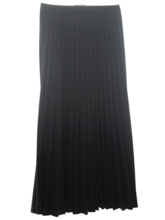 1960's Womens Pleated Wool Maxi Skirt