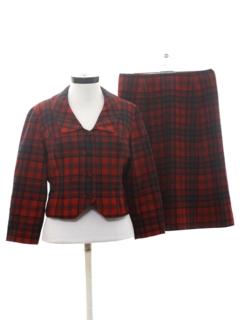 1960's Womens Mod Pendleton Skirt Suit