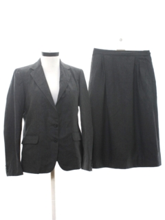 1970's Womens Wool Two Piece Skirt Suit