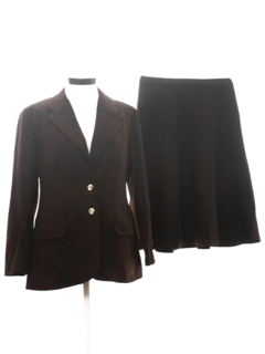 1970's Womens Two Piece Skirt Suit