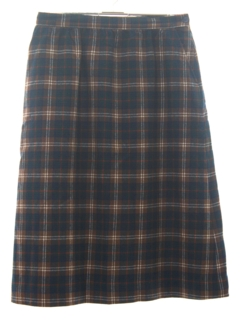 1970's Womens Plaid Wool Pendleton Skirt
