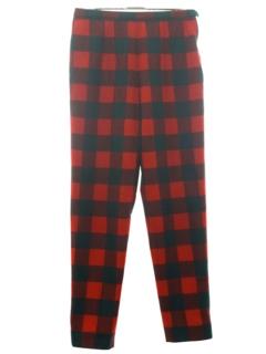 1960's Womens Mod Pendleton Plaid Wool Pants