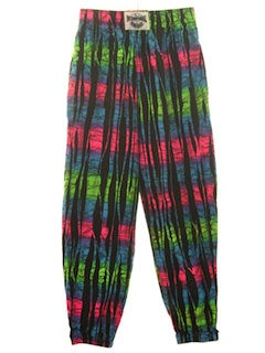 1980's Mens or Boys Totally 80s Baggy Print Pants