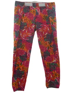 1980's Unisex Totally 80s Baggy Print Pants