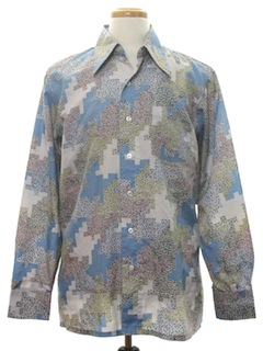 1970's Mens Print Disco Shirt