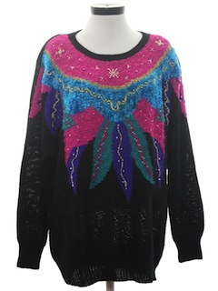 1980's Womens Totally 80s Oversized Sweater