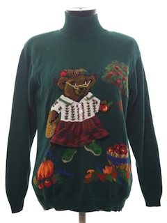 1990's Womens Cheesy Bear-rific Ugly Sweater