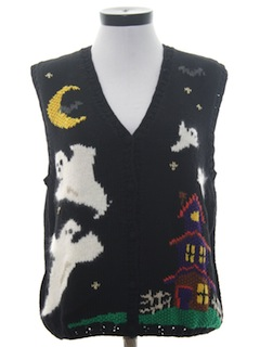 1980's Womens Halloween Sweater Vest