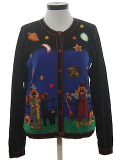 1990's Womens Cheesy Kitschy Halloween Sweater