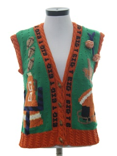 1990's Womens Football Sweater Vest