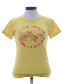 1980's Womens Beer T-Shirt