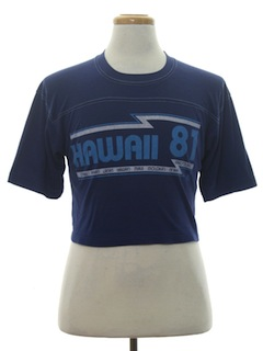1980's Mens Cropped Sport T-Shirt