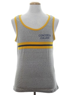 1970's Mens Sports Tank Top T-Shirt