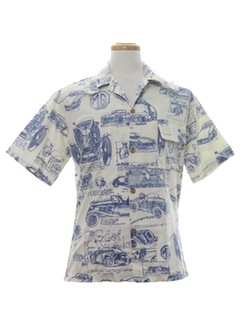 1980's Mens Mod Hawaiian Shirt