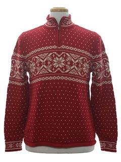 1990's Unisex Snowflake Ski Sweater