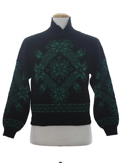 1980's Unisex Totally 80s Snowflake Ski Sweater