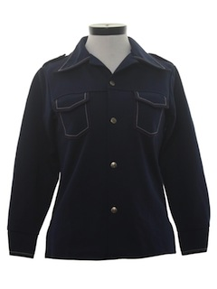 1970's Womens Nautical Leisure Shirt Jacket