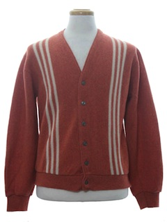 1960's Mens Mod Cardigan Sweater