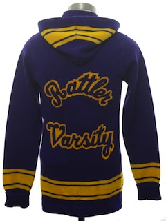 1960's Womens Cardigan Varsity Lettermans Sweater