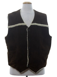 1970's Mens Leather Hippie Vest