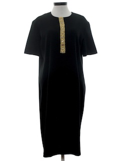 1970's Womens Little Black Dress