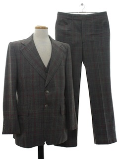 1970's Mens Three Piece Suit
