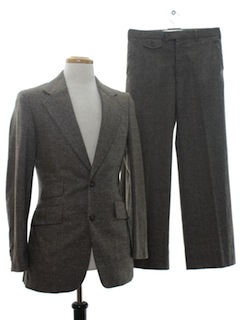 1970's Mens Mod Wool Suit
