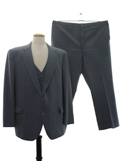 1980's Mens Three Piece Suit