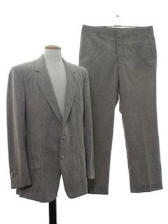 1980's Mens Designer Linen Suit