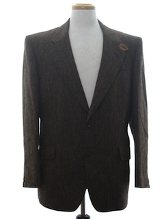 1970's Mens Designer Wool Blazer Sport Coat Jacket
