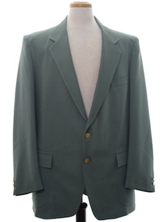 1970's Mens Sharkskin Blazer Sport Coat Jacket