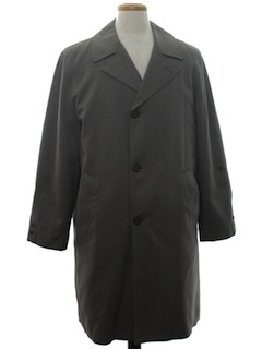 1970's Mens Trench Overcoat Jacket