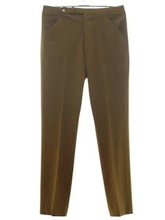 1960's Mens Mod Flat Front Tapered Slacks Pants