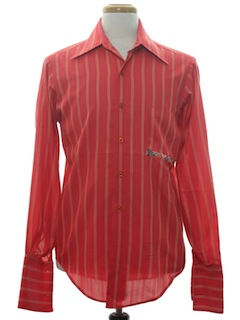 1970's Mens Hippie Dress Shirt