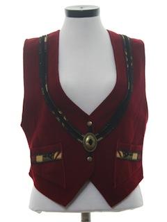 1980's Womens Wool Western Style Vest