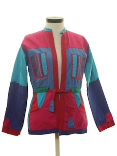 1980's Womens Reversible Hippie Style Jacket