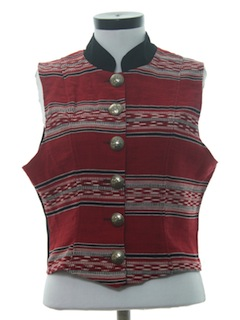 1980's Womens Western Style Vest