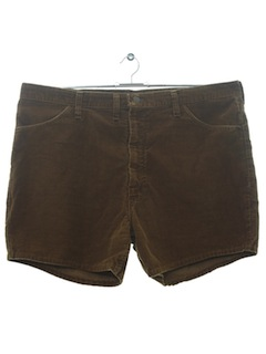 1970's Mens Corduroy Shorts