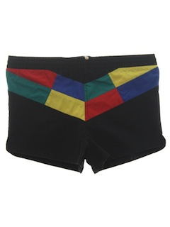 1980's Mens Totallly 80s Swim Shorts